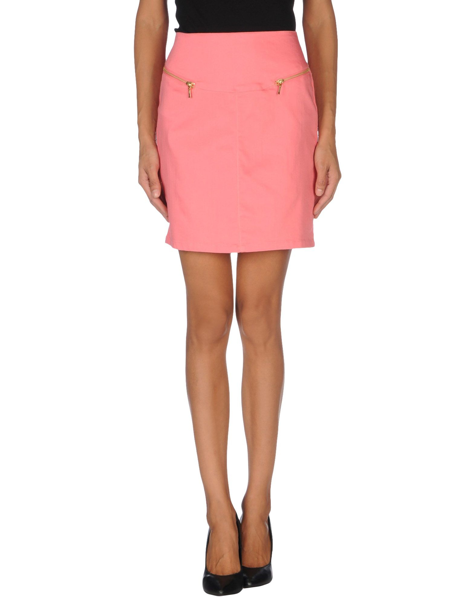vero moda knee length skirt in pink lyst