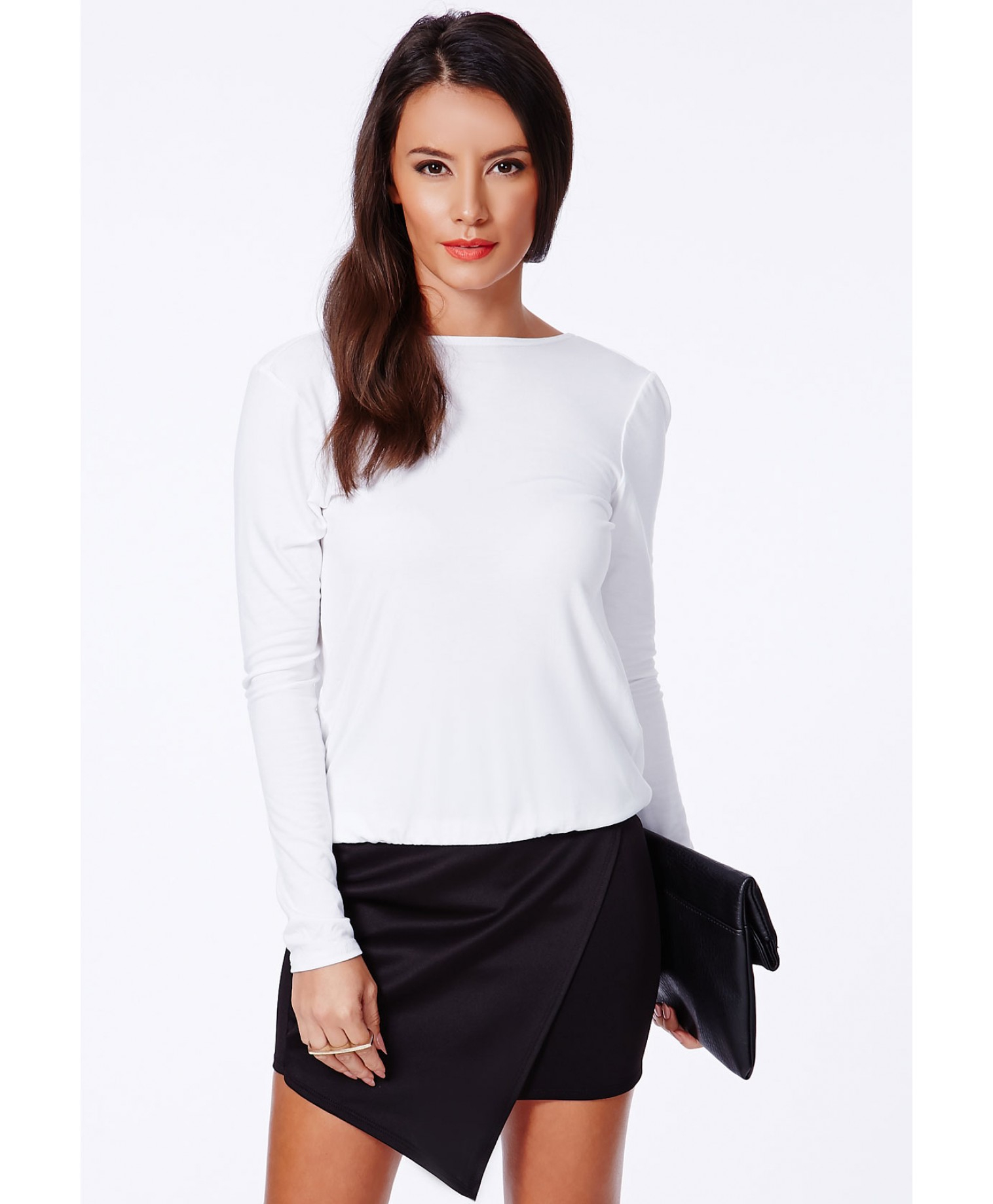 66f6d101cfc856 Lyst - Missguided Larissa Open Back Crossover Top In White in White