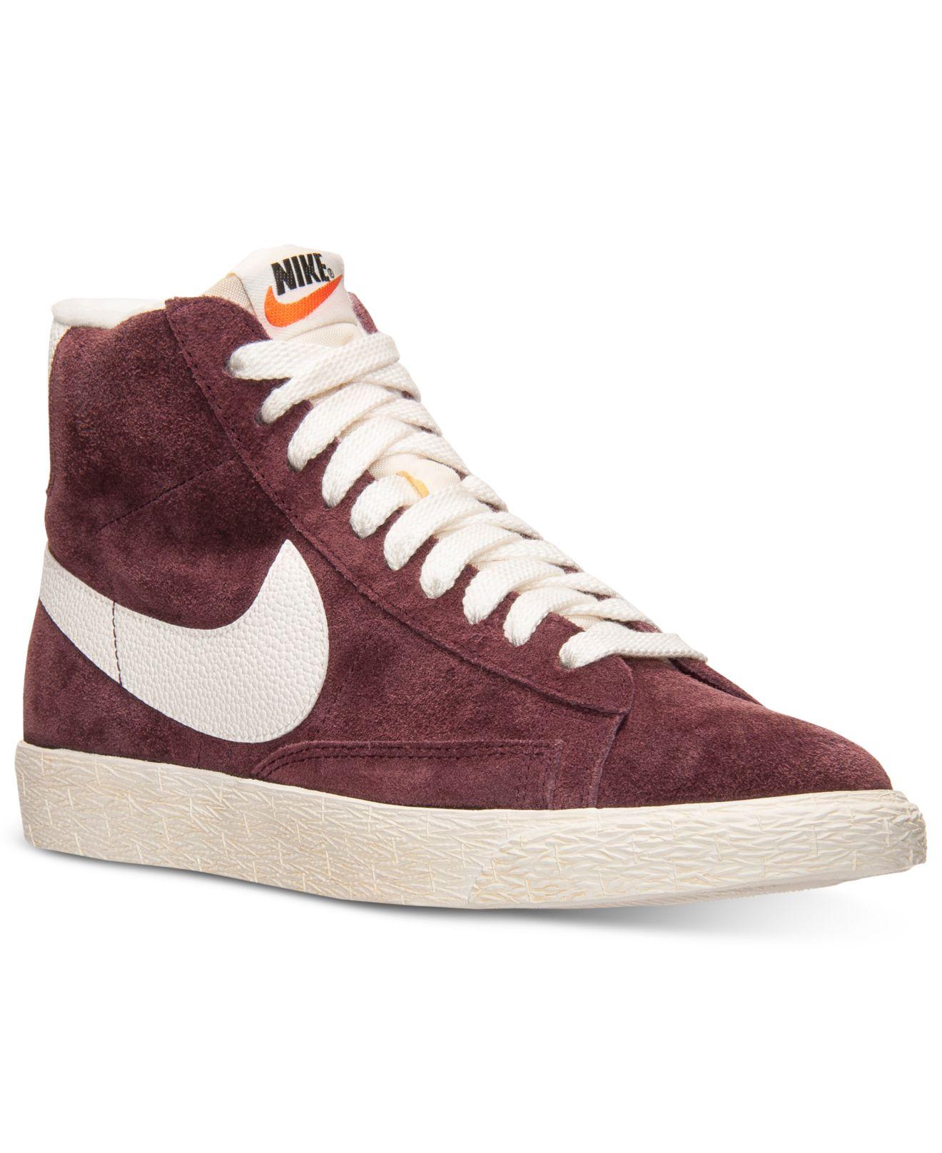 Nike Blazers Élevées Supérieures Pumas Bordeaux