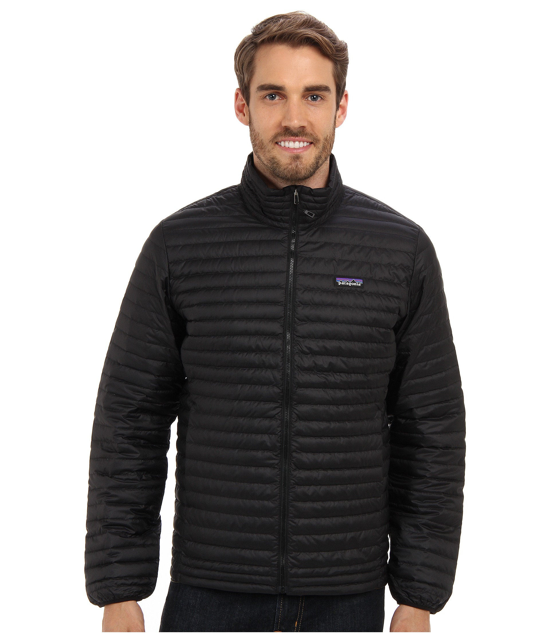 Patagonia Down Shirt In Black For Men Lyst