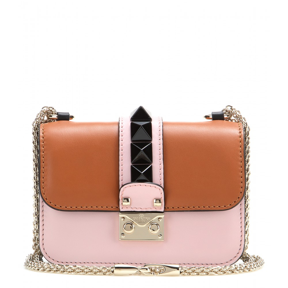 Lyst Valentino Glam Lock Mini Leather Shoulder Bag