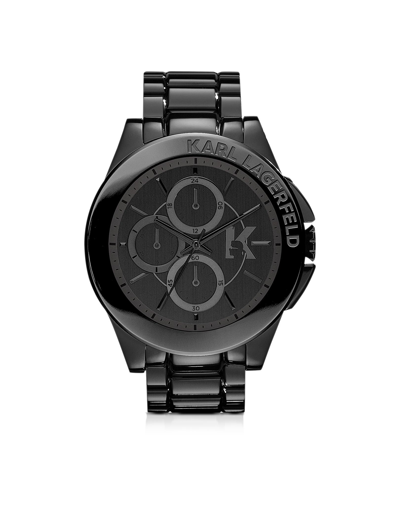karl lagerfeld karl energy black stainless steel s