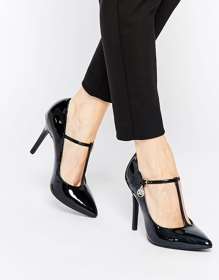 Lyst Faith Cartel T Bar Mary Jane Heeled Shoes In Black
