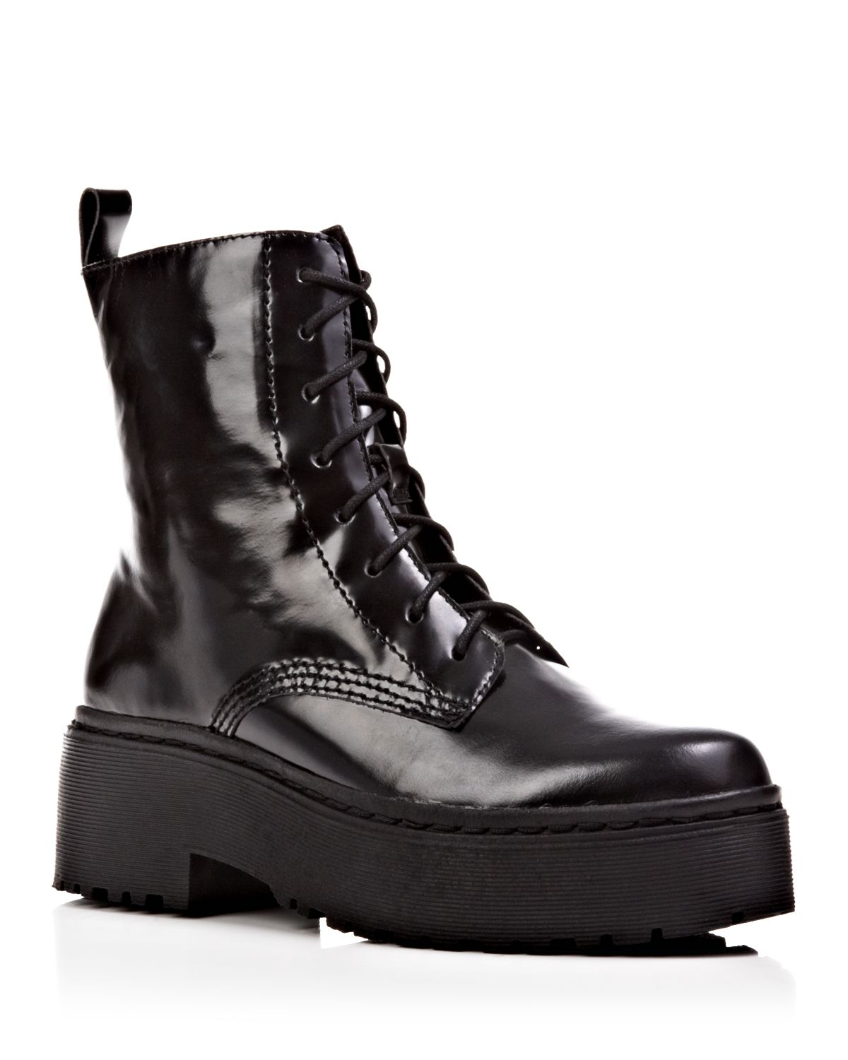 Jeffrey campbell Lace Up Platform Combat Boots - Finnick in Black ...