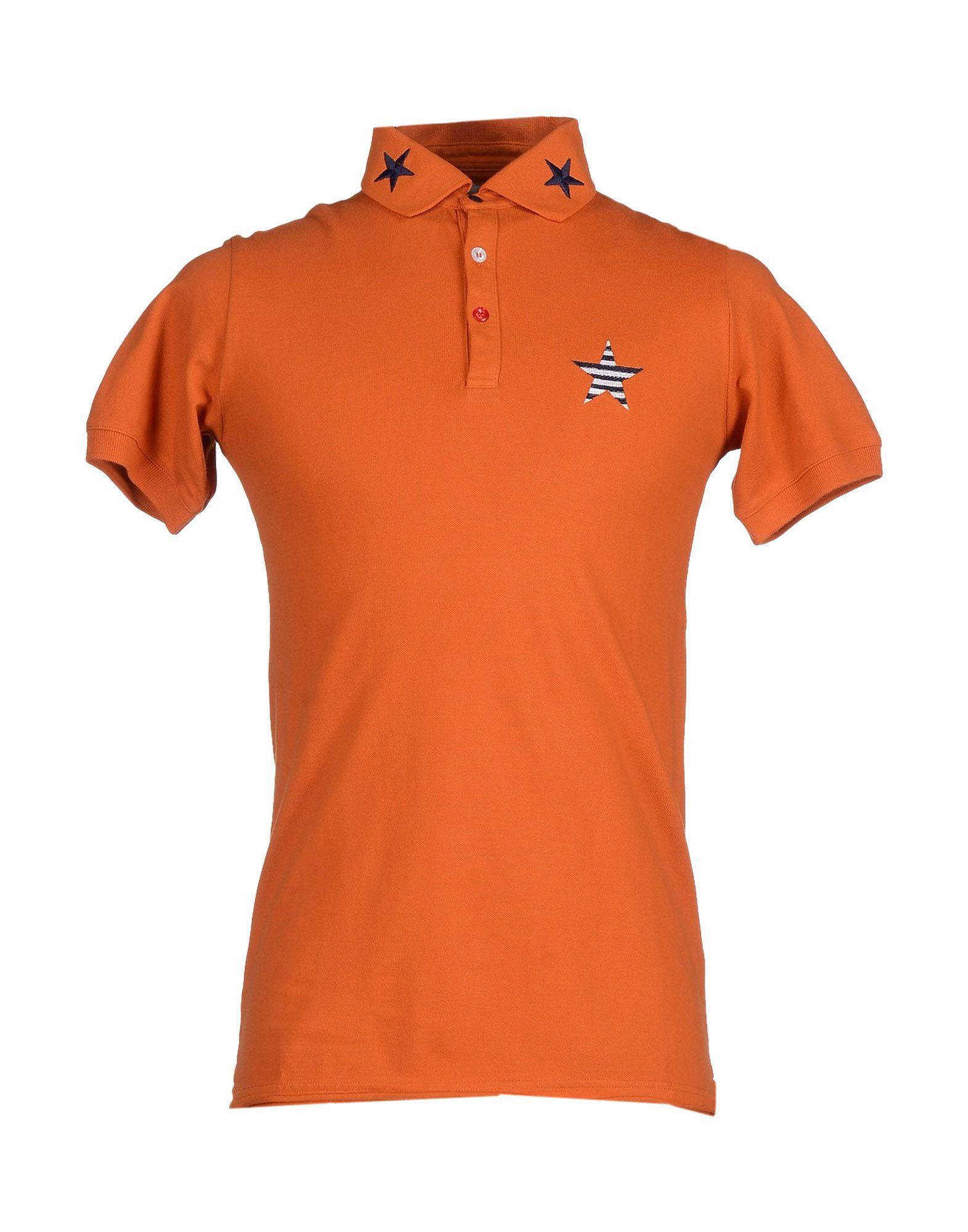 Macchia j polo shirt in orange for men save 60 lyst for Orange polo shirt mens