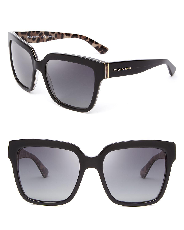 Dolce Gabbana Sunglasses Black  dolce gabbana dolce gabbana animalier polarized oversized square