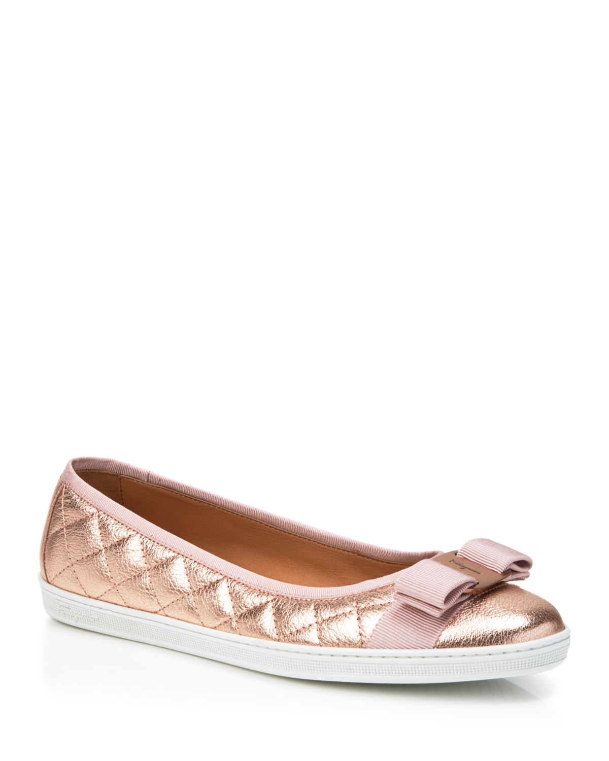 Salvatore Ferragamo 10MM RUFINA QUILTED LEATHER FLATS