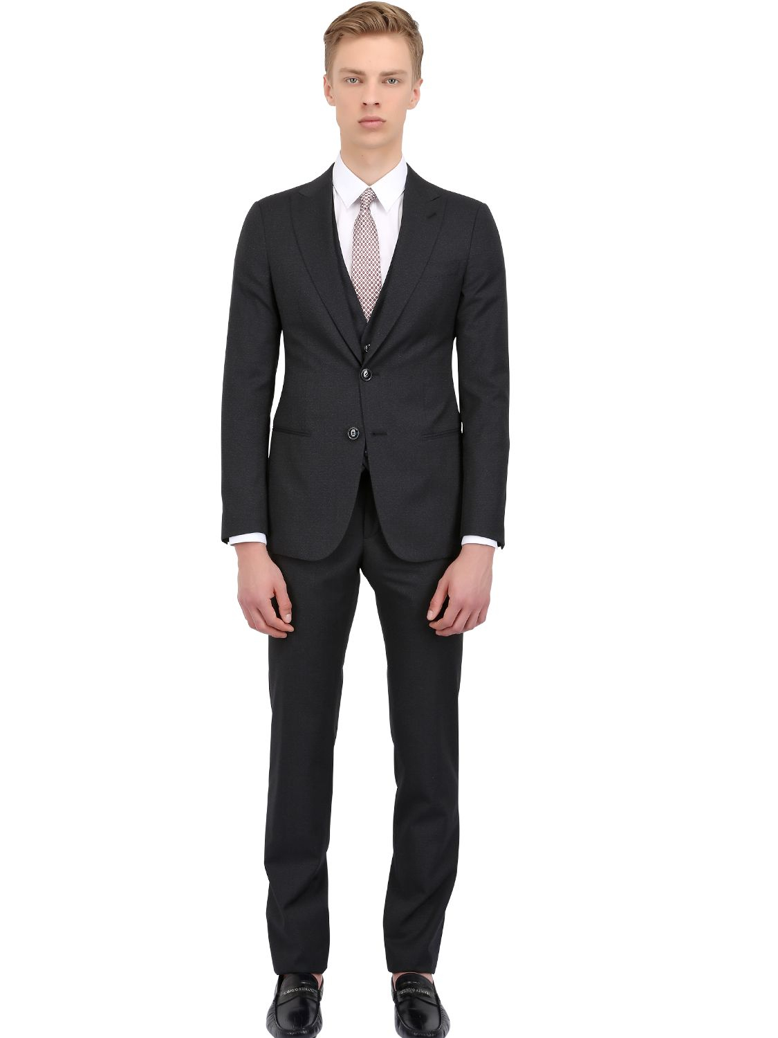 Lyst Giorgio Armani Silkwool Blend Suit In Blue For Men