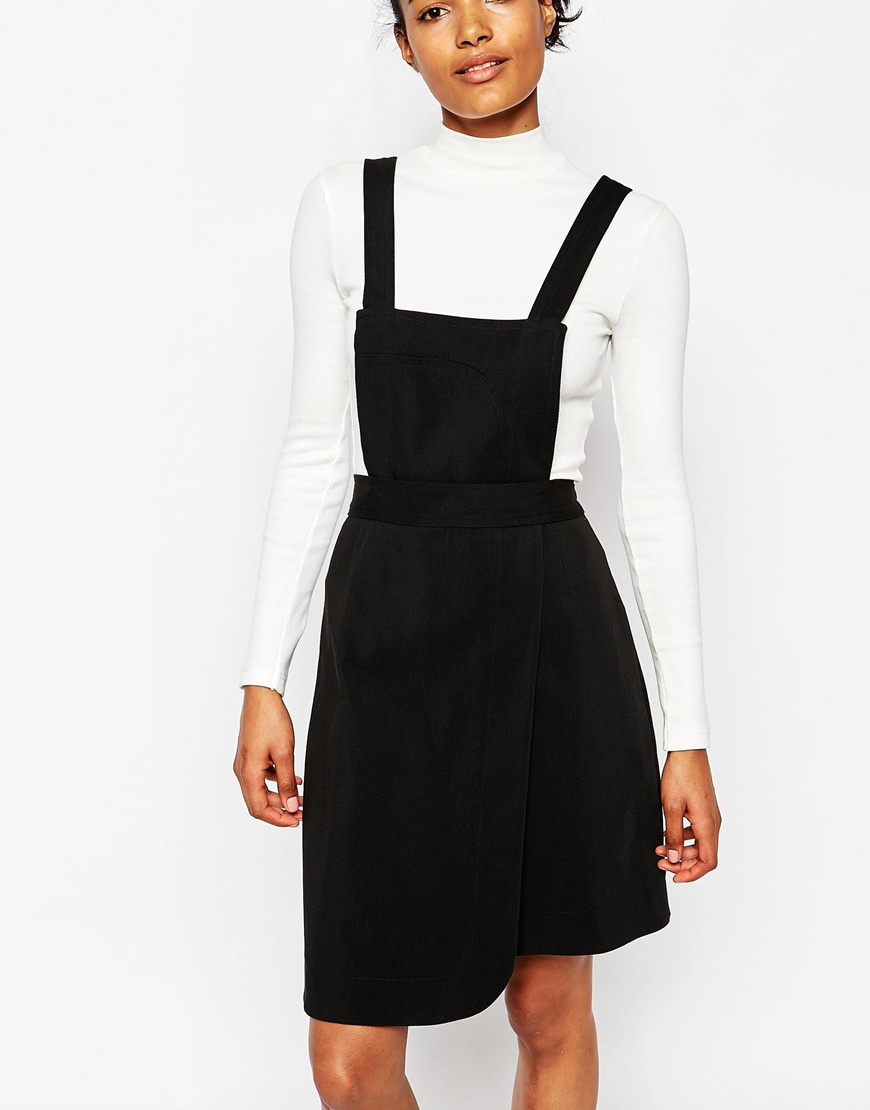 Wood wood Maria Pinafore Dress With Detatchable Top in Black   Lyst