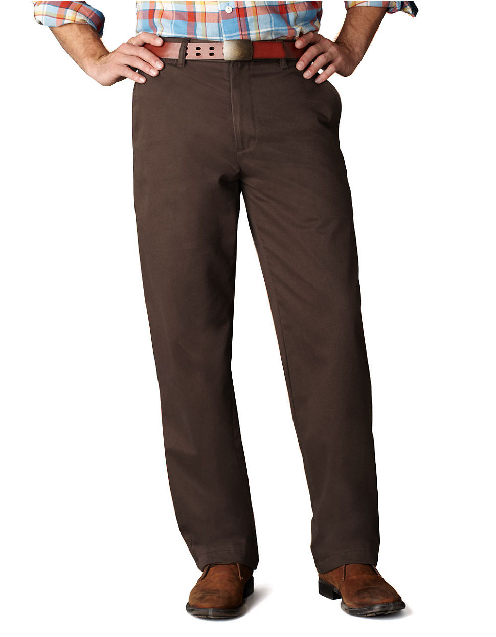 Dockers Classic Fit Khaki Pants in Brown for Men | Lyst