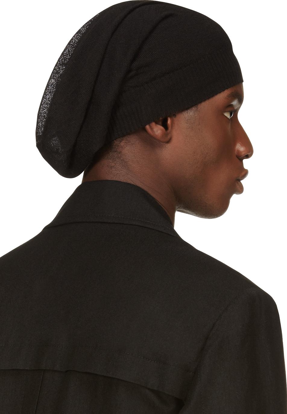 Black Small Cashmere Beanie Rick Owens EvEgv28G