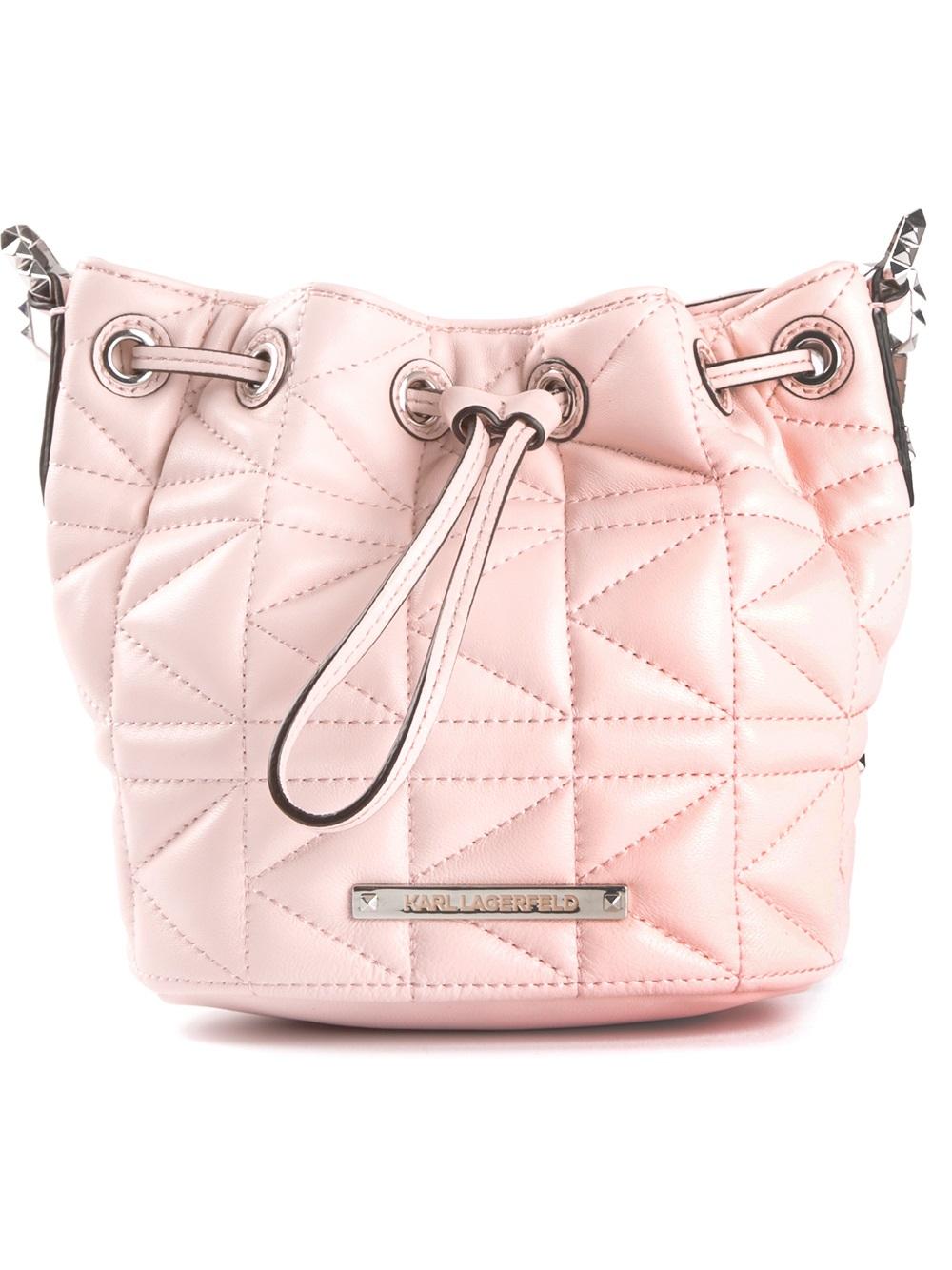 quilted shoulder bag - Pink & Purple Karl Lagerfeld wavph3