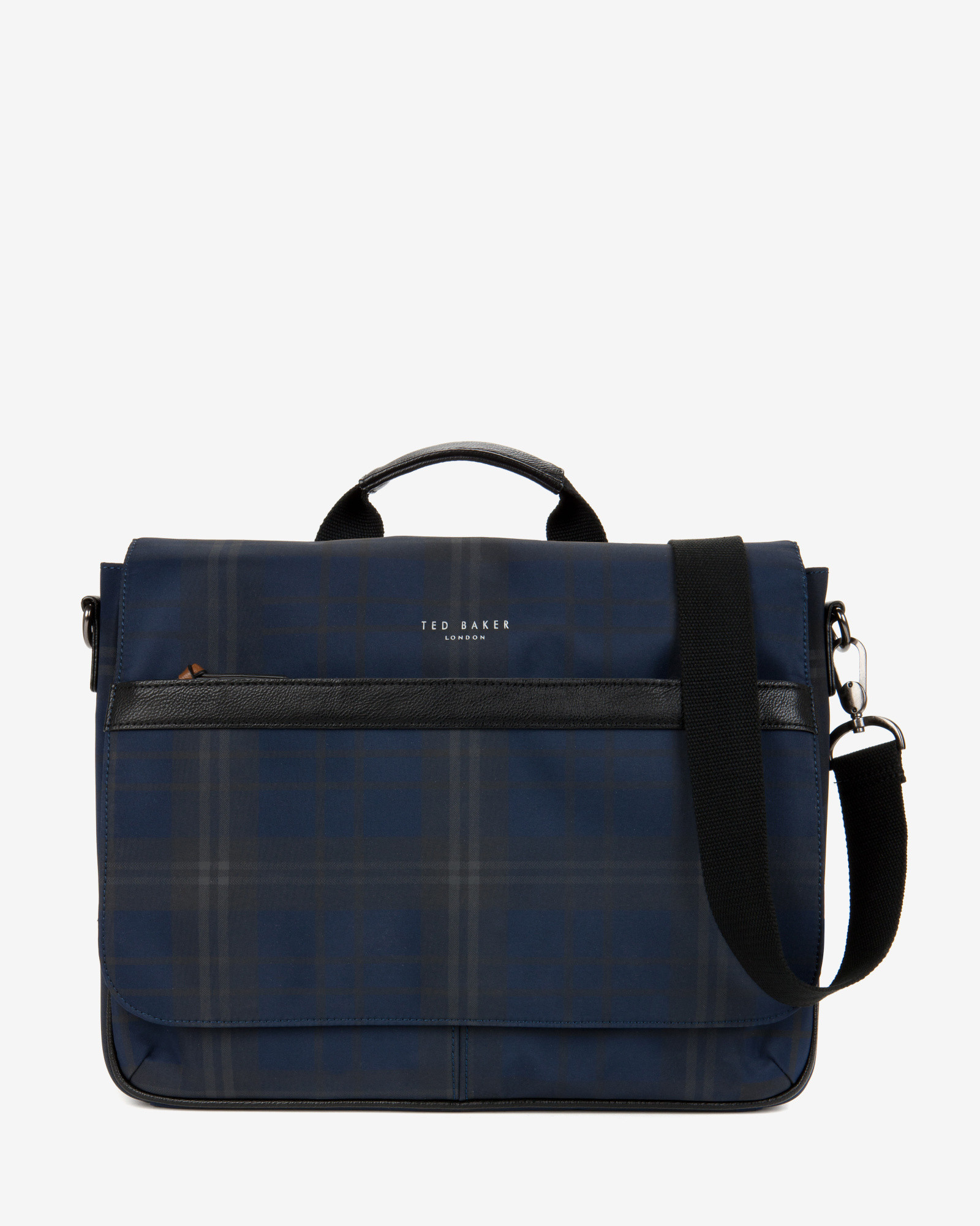 ced1f5639482 Lyst - Ted Baker Checked Messenger Bag in Blue for Men