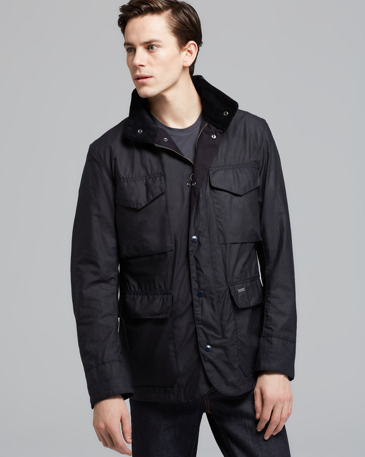 Lyst Barbour Tailored Sapper Jacket In Blue For Men