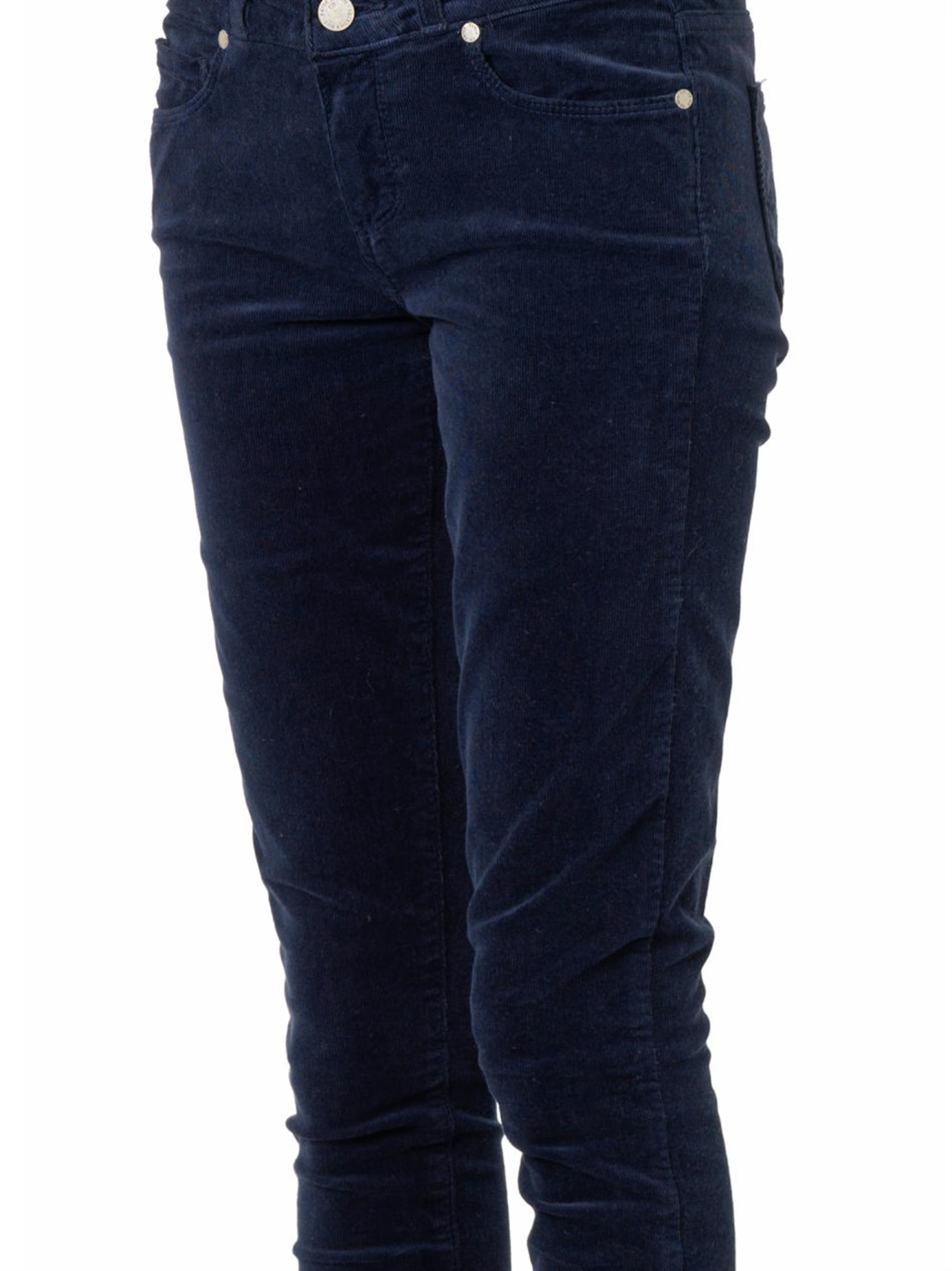 Navy cord skinny jeans