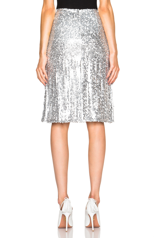 Nina ricci Sequin Skirt in Metallic | Lyst
