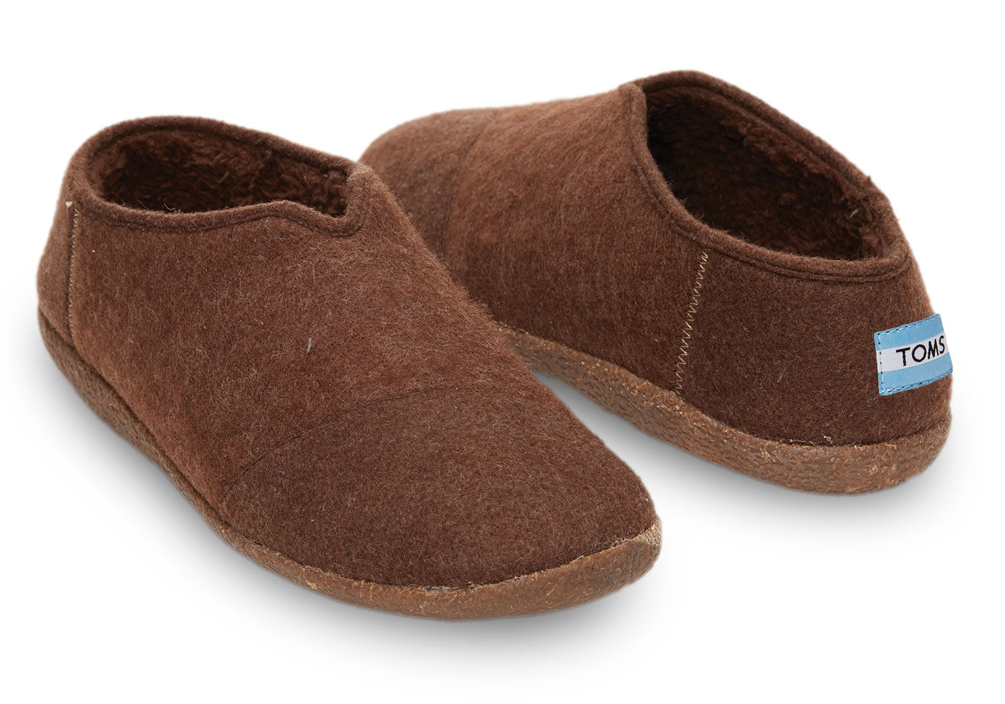 3439ff223 TOMS Chocolate Wool Men's Slippers in Brown for Men - Lyst