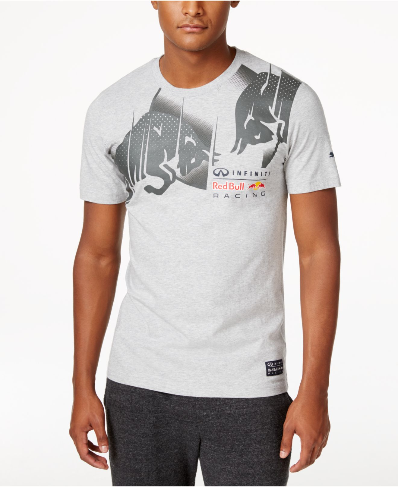 puma men 39 s red bull racing graphic t shirt in green for men lyst. Black Bedroom Furniture Sets. Home Design Ideas