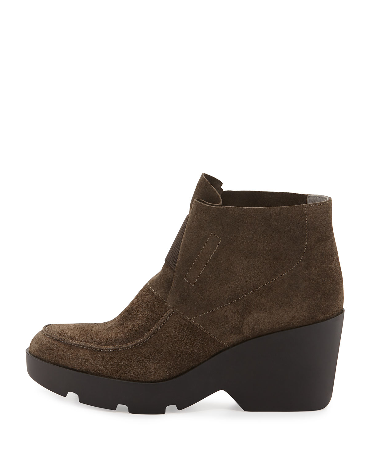 eileen fisher treat wedge desert boot in gray lyst