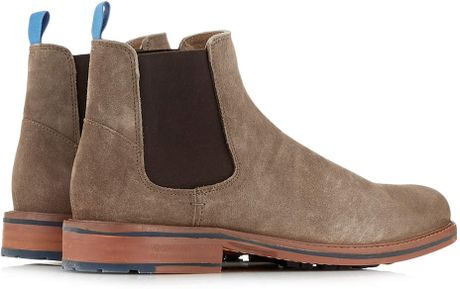 ben sherman light brown suede chelsea boots in brown for