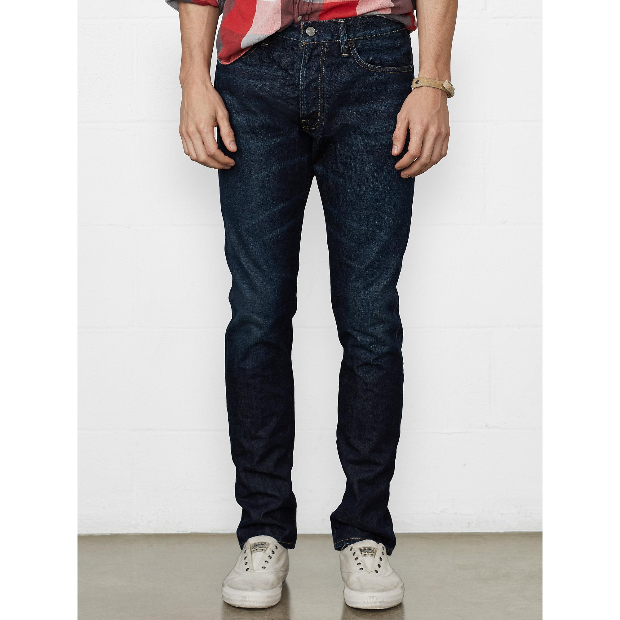 denim supply ralph lauren tapered straight ekins jean in blue for men lyst. Black Bedroom Furniture Sets. Home Design Ideas