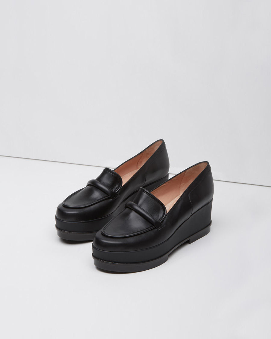 Lyst Robert Clergerie Yokole Wedge Loafer In Black