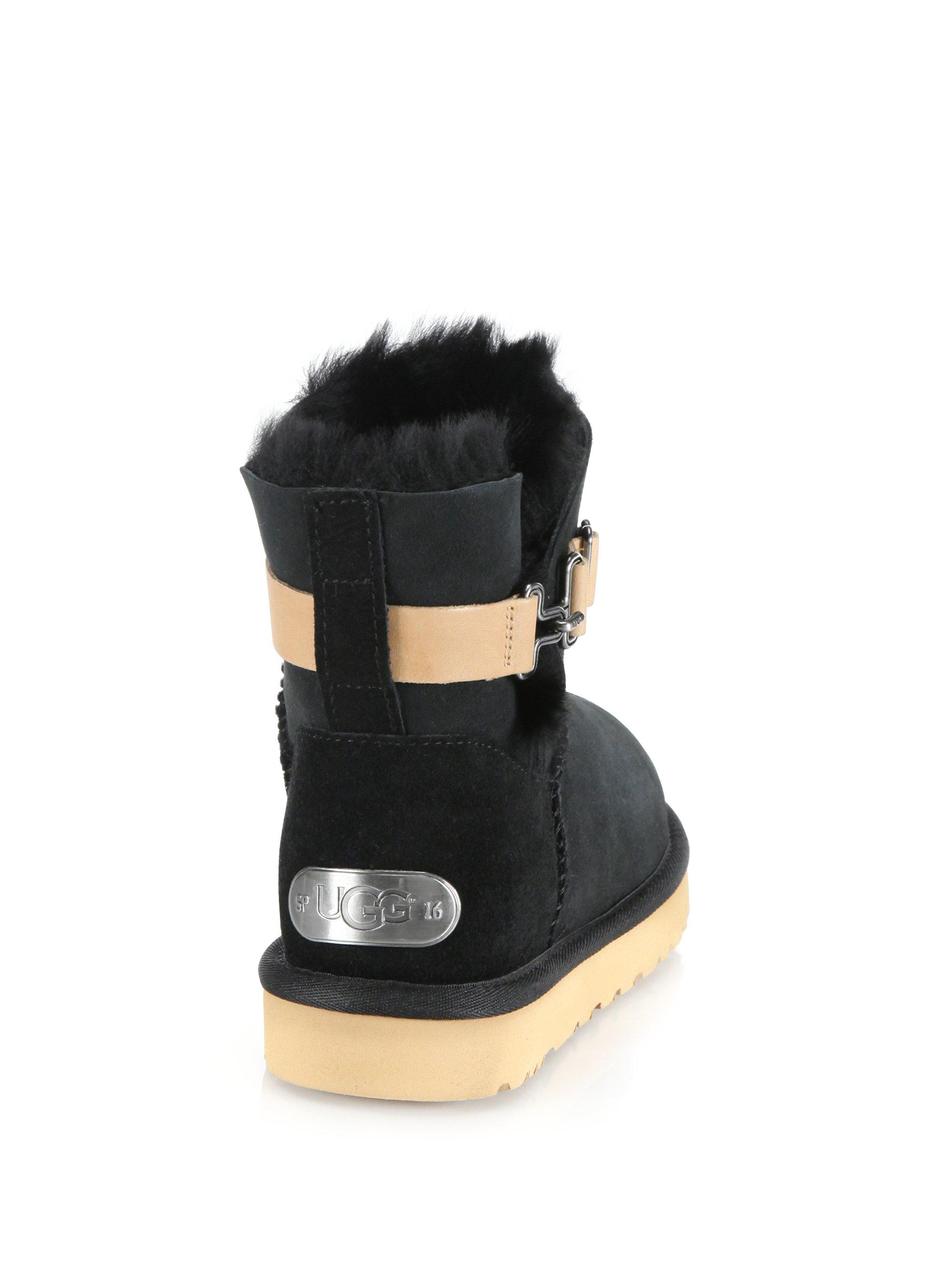ugg aurelyn boots in black lyst