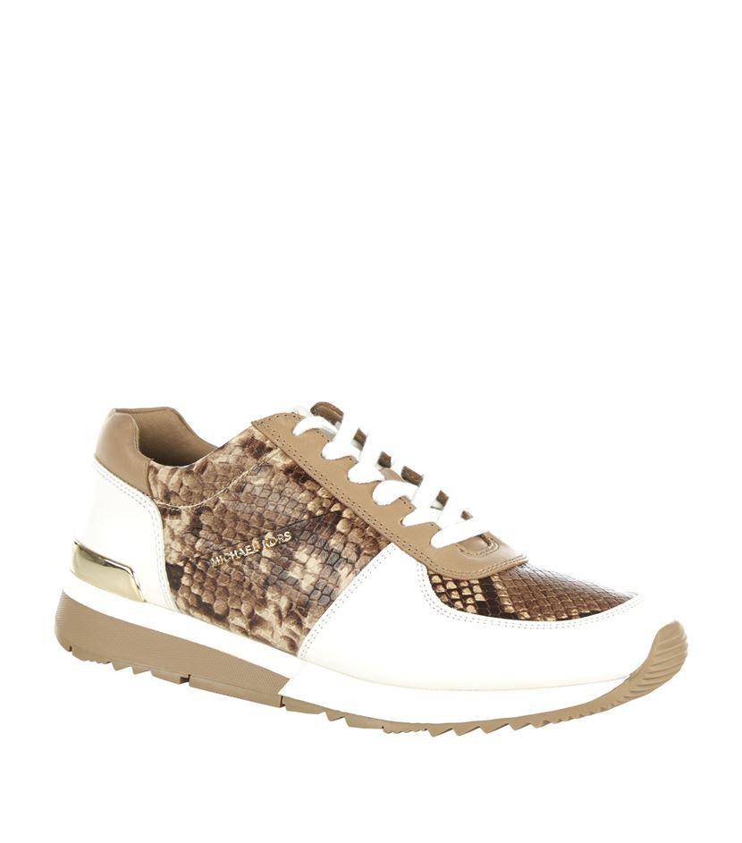 3f723725c MICHAEL Michael Kors Allie Snake-effect Sneaker - Lyst