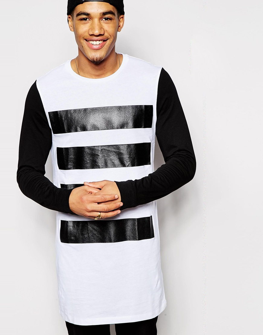 DESIGN longline long sleeve t-shirt in black - Black Asos Footlocker Pictures For Sale Collections Cheap Price KJadc