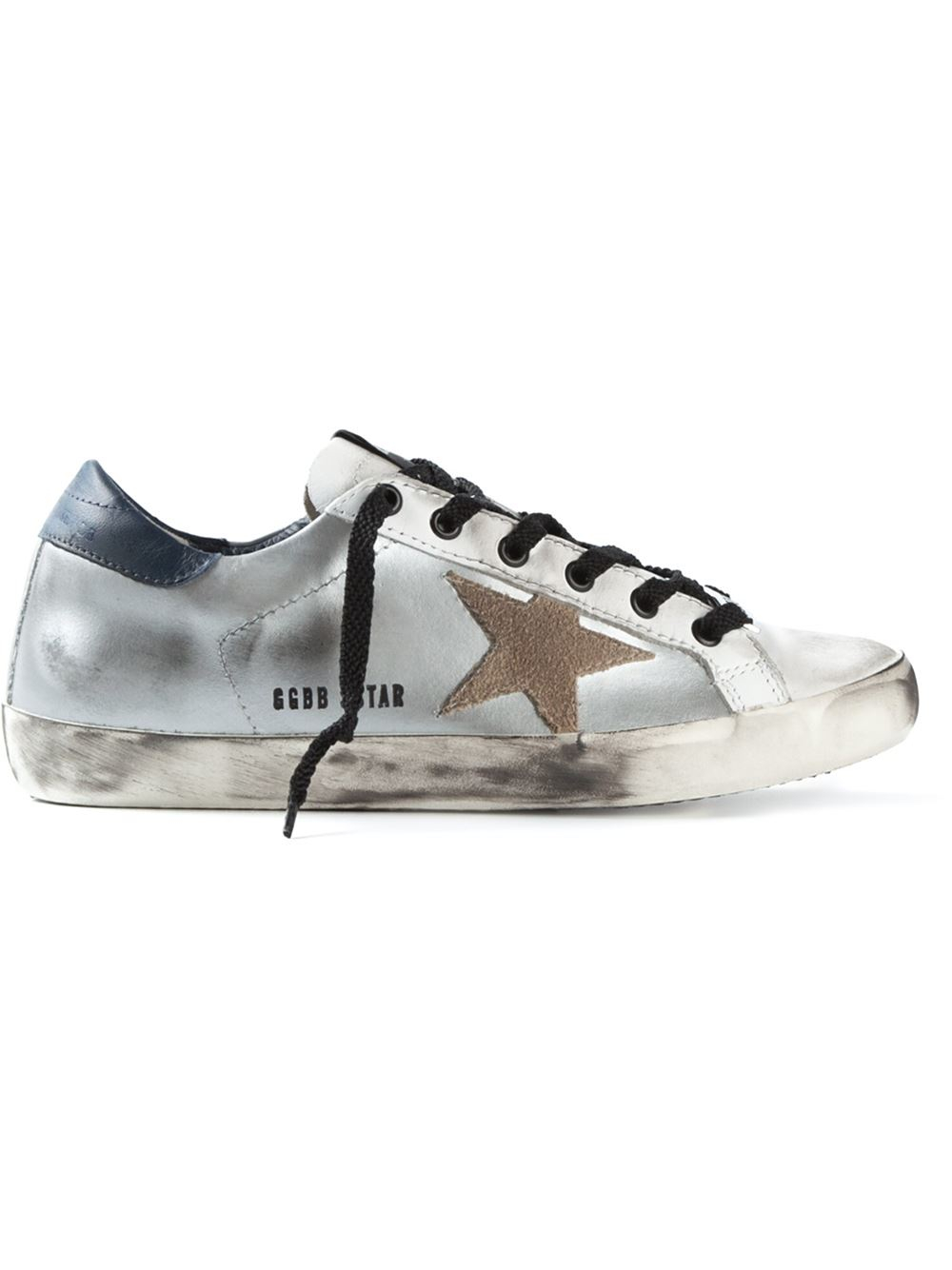 golden goose deluxe brand 39 super star 39 sneakers in multicolor metallic lyst. Black Bedroom Furniture Sets. Home Design Ideas