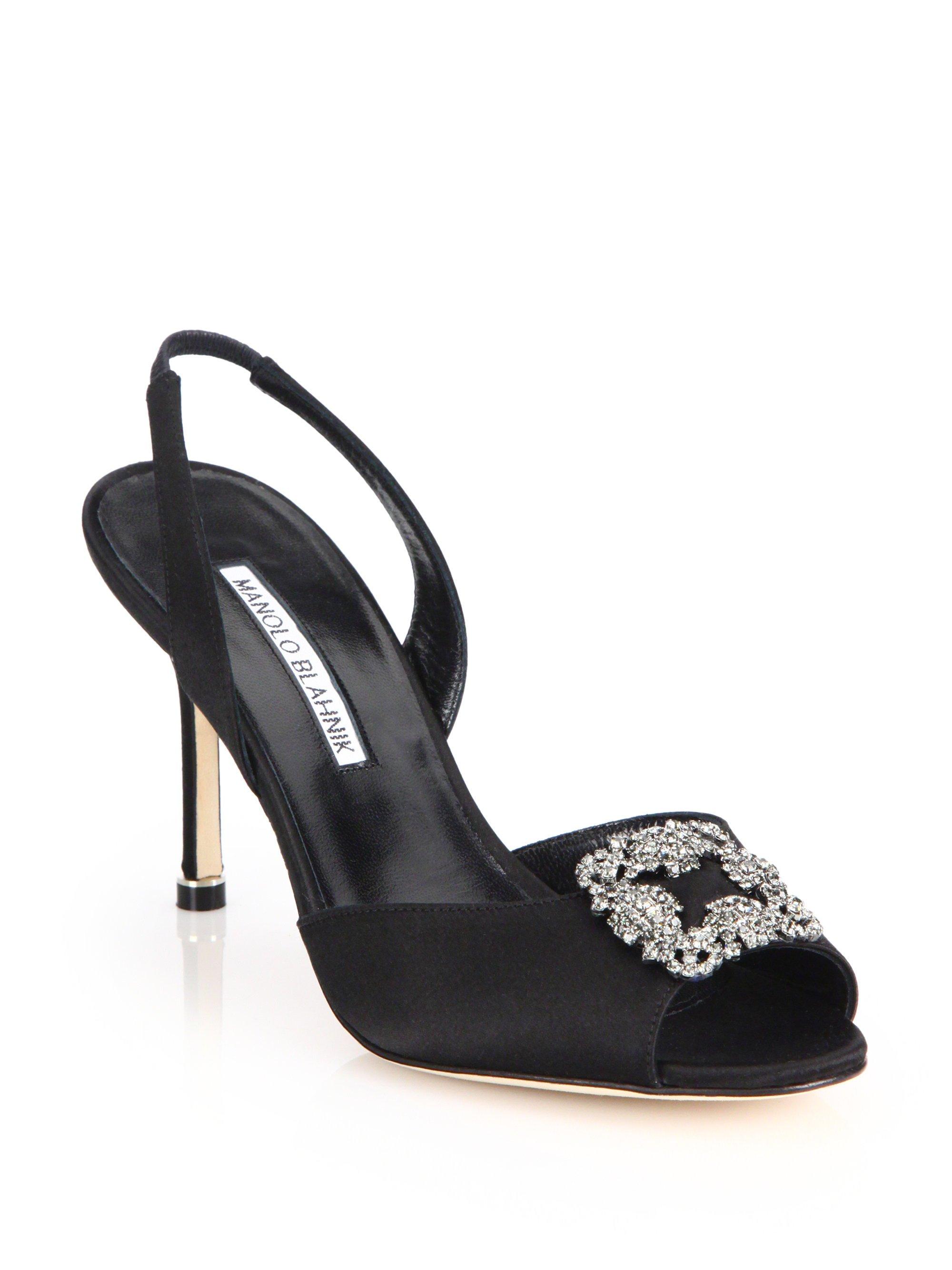manolo blahnik slingback sandals