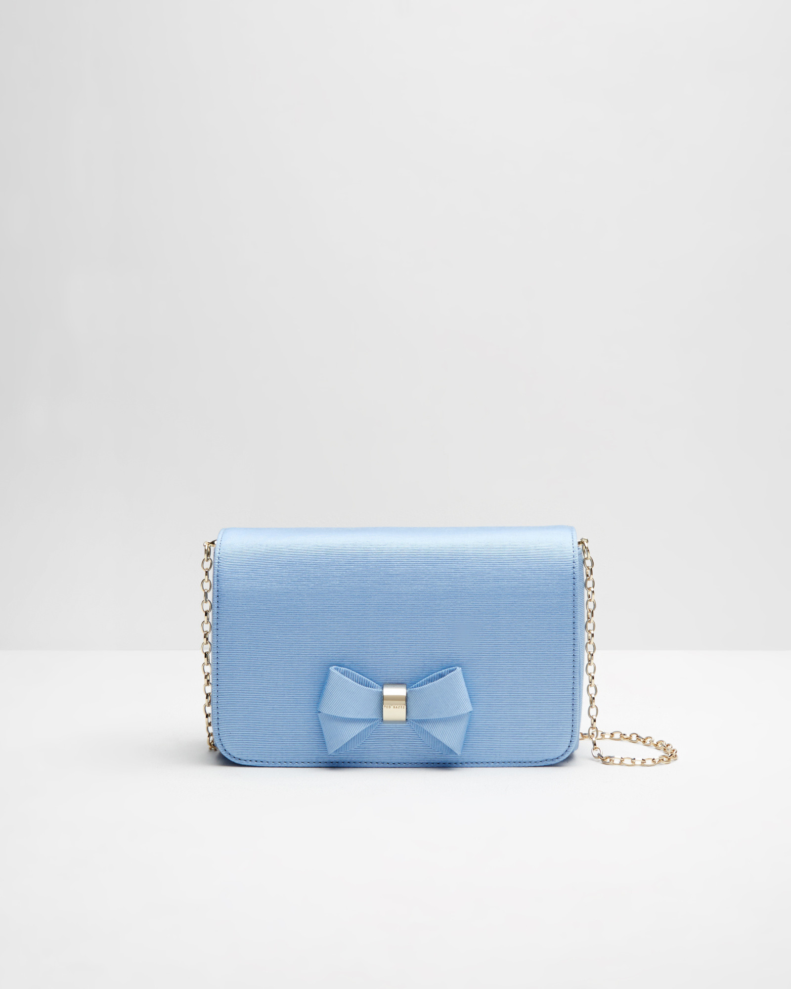6ebcc94fe Ted Baker Bow Detail Clutch Bag in Blue - Lyst