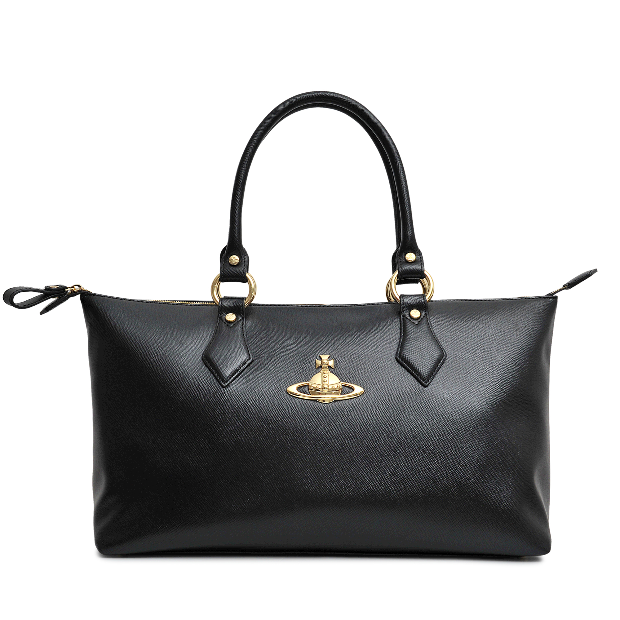 Lyst - Vivienne Westwood Divina Grained Tote in Black 622d06f5e63ac