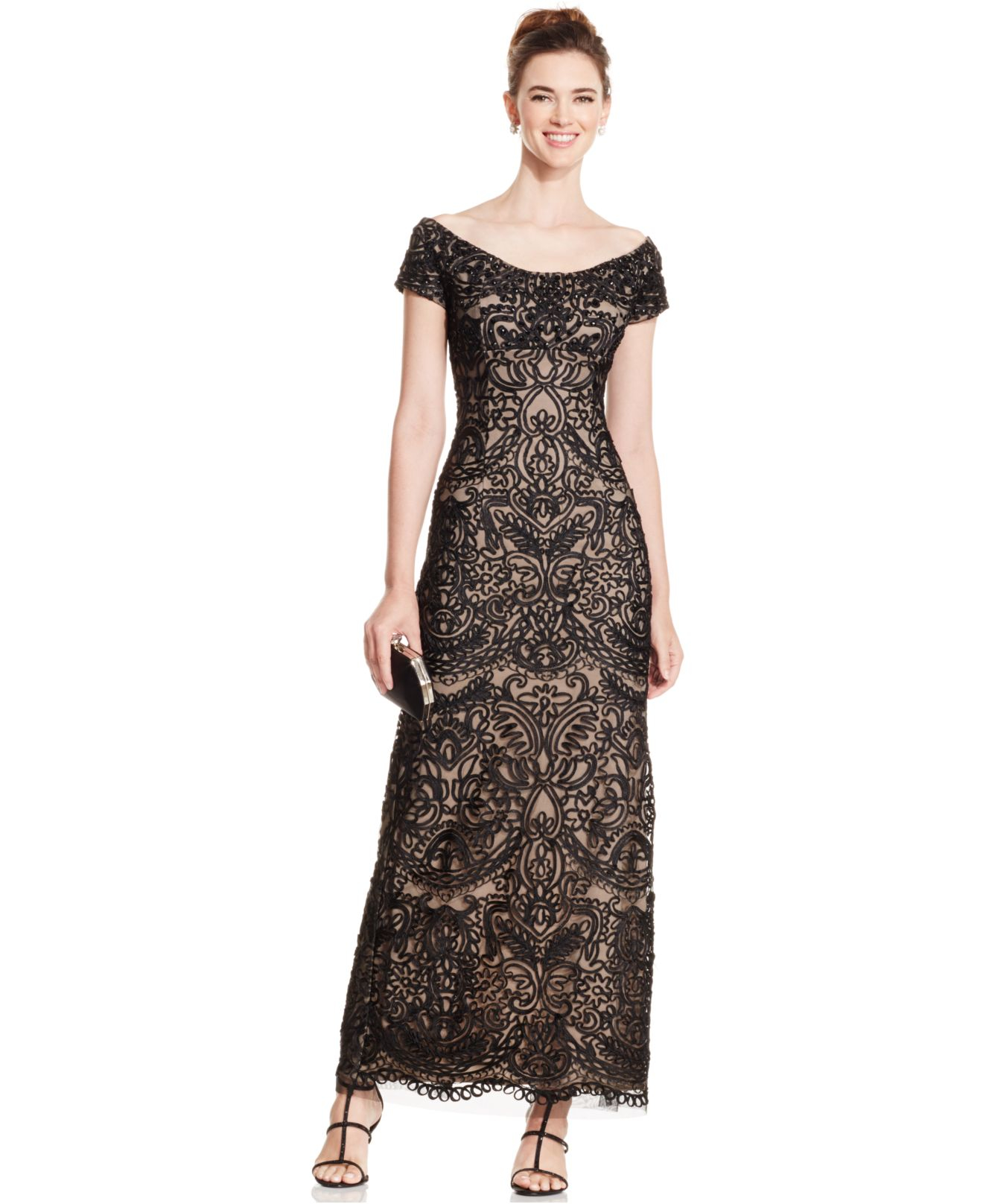 Soutache lace dress