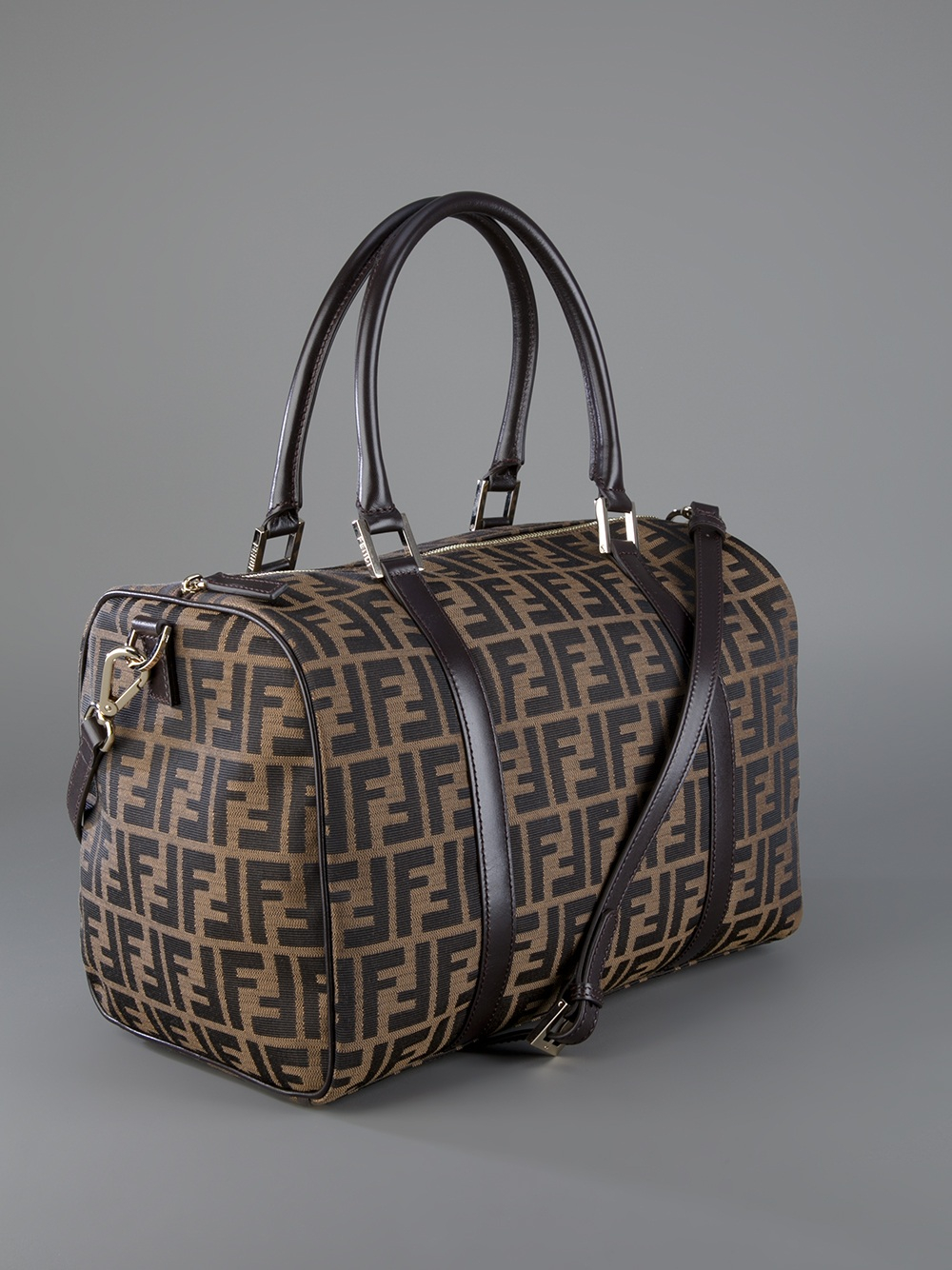 Lyst - Fendi Logo Print Bag in Brown 603daa765e32f