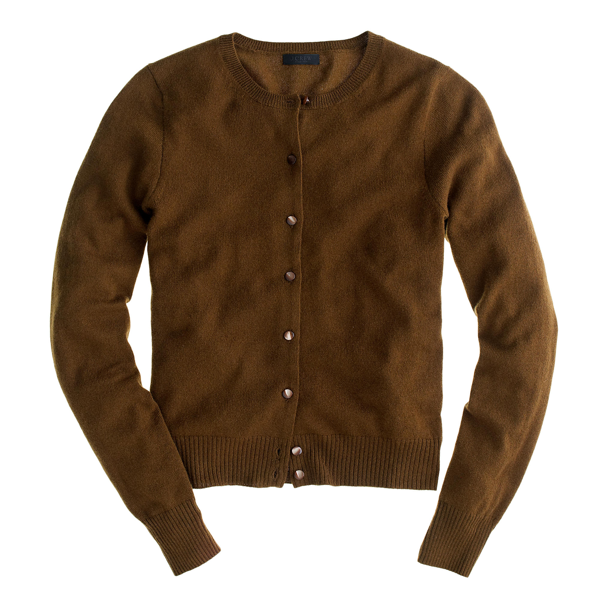 J.crew Collection Cashmere Cardigan Sweater in Brown | Lyst