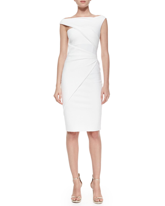a883d5c6954 La Petite Robe Di Chiara Boni Silvietta Asymmetric Body-conscious ...