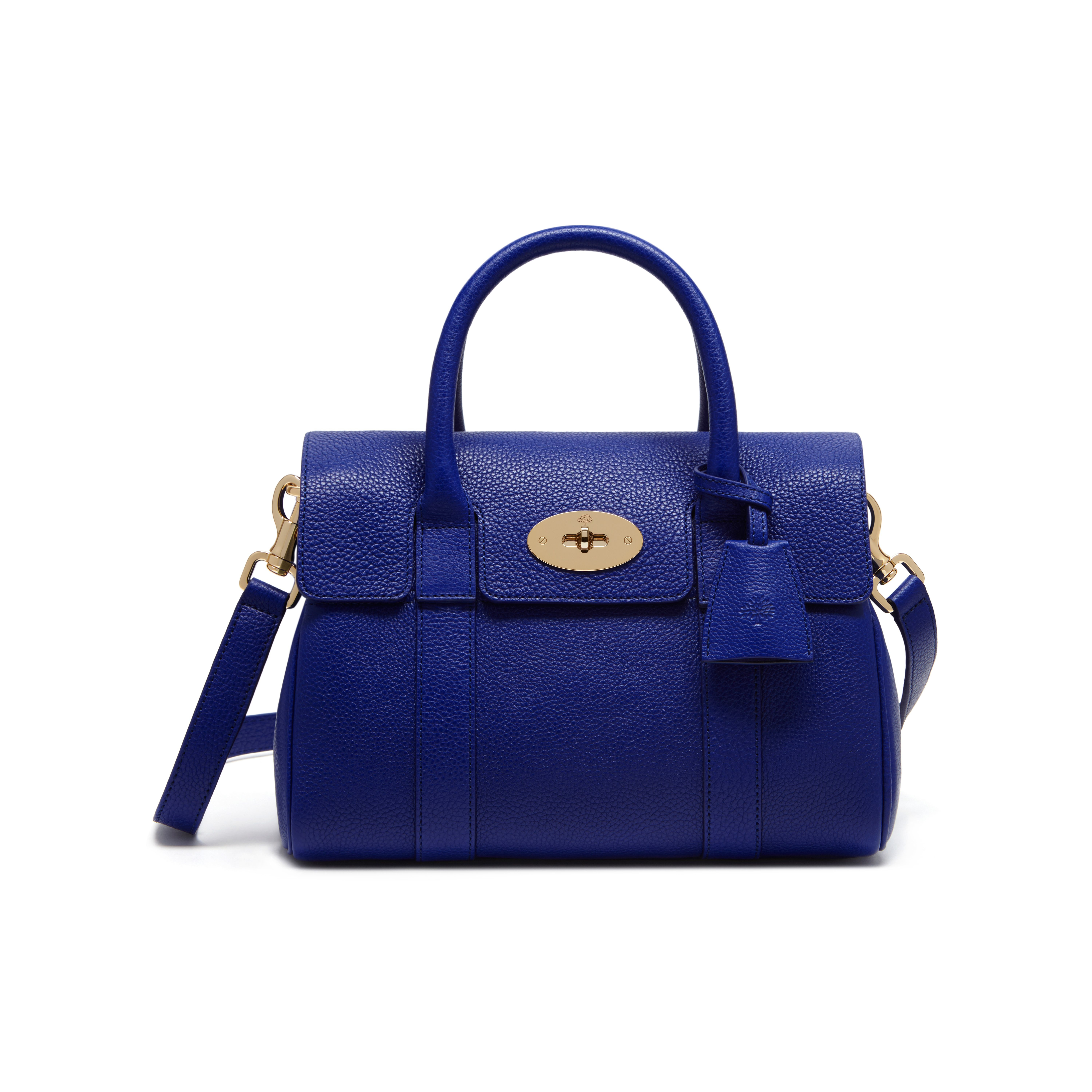 88dd087edf Mulberry Bayswater Small Grained Leather Bag in Blue - Lyst