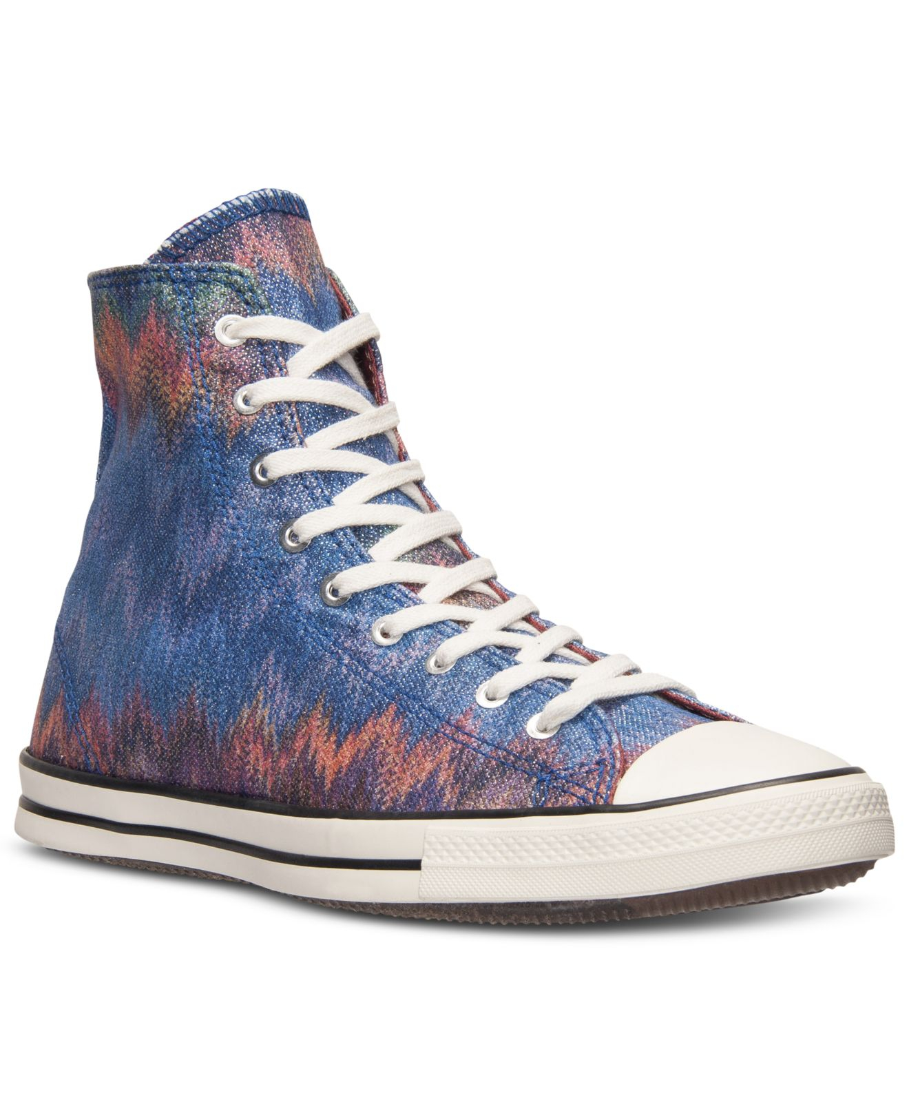 14752420118023 Lyst - Converse Women S Chuck Taylor All Star Fancy Missoni Hi Casual  Sneakers From Finish Line in Blue