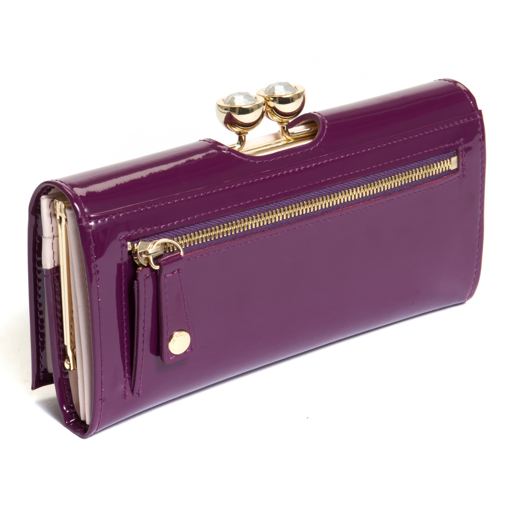 2425be72b87e Ted Baker Deep Purple Purse Best Image Ccdbb. Gallery. Ted Baker Lottay Small  Patent Leather Purse In Purple Lyst