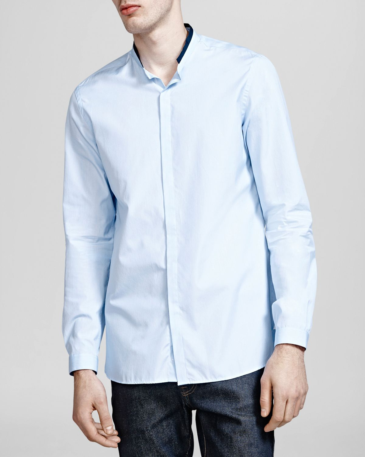 Lyst The Kooples Classic Stripes Button Down Shirt