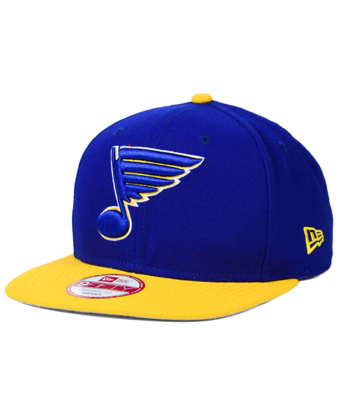 official photos 18052 83d18 ... canada lyst ktz st. louis blues prop 9fifty snapback cap in blue for  men 31b2a