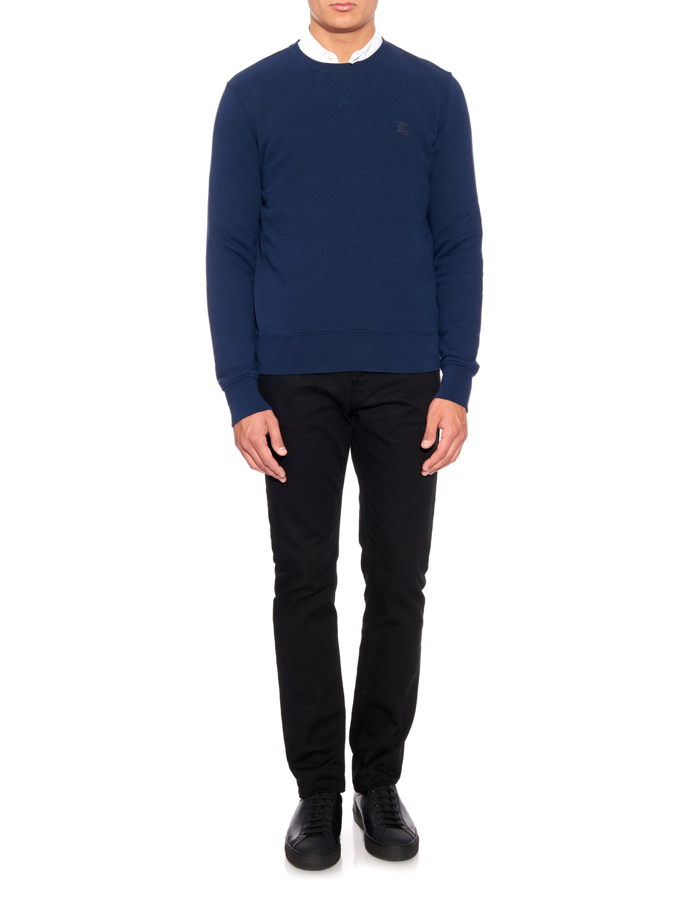 Lyst burberry brit claridge fleece lined cotton blend for Cotton polyester flannel shirts