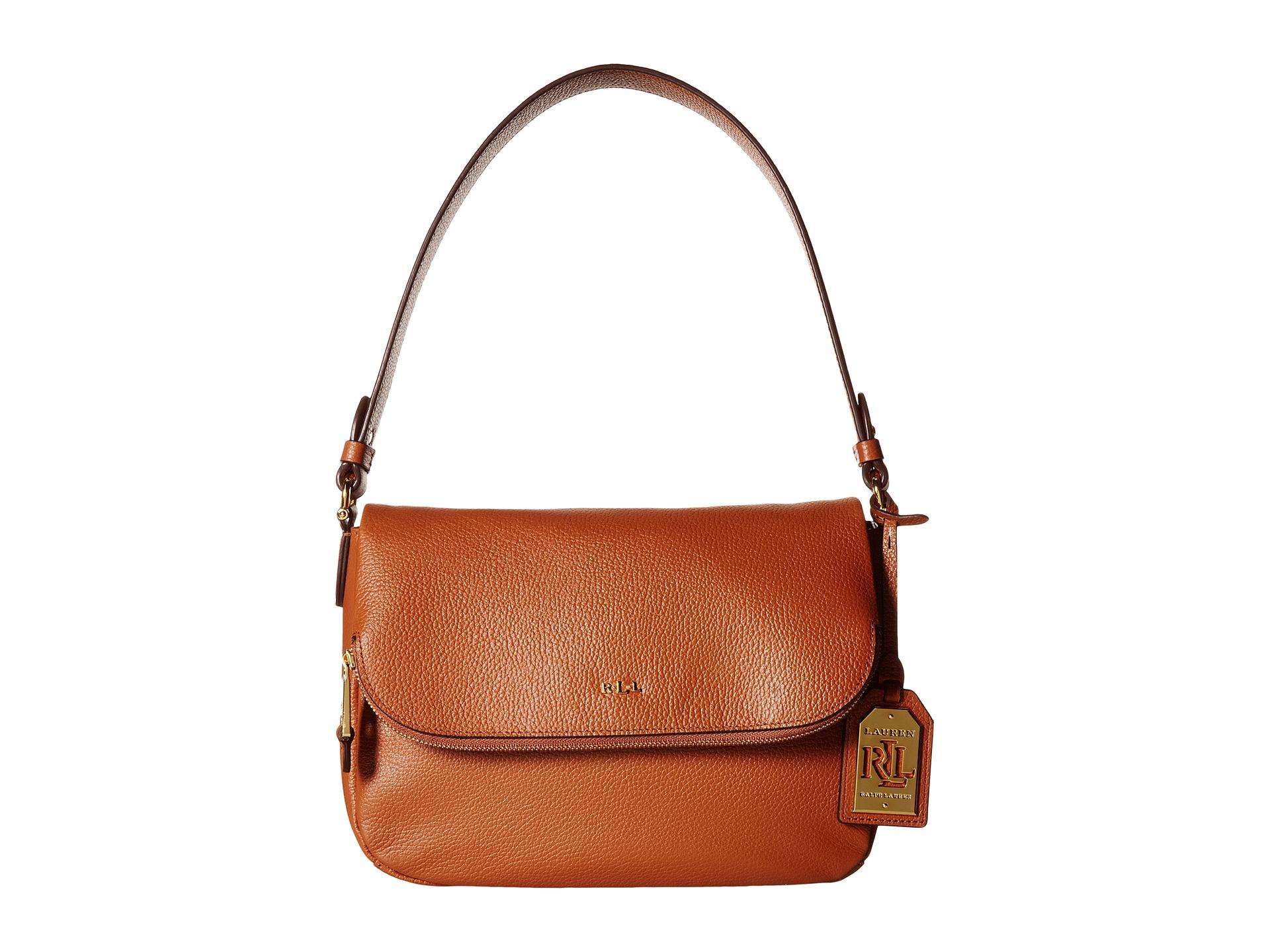 Lyst - Lauren By Ralph Lauren Harrington Shoulder Bag in Brown 594bc9001be3c
