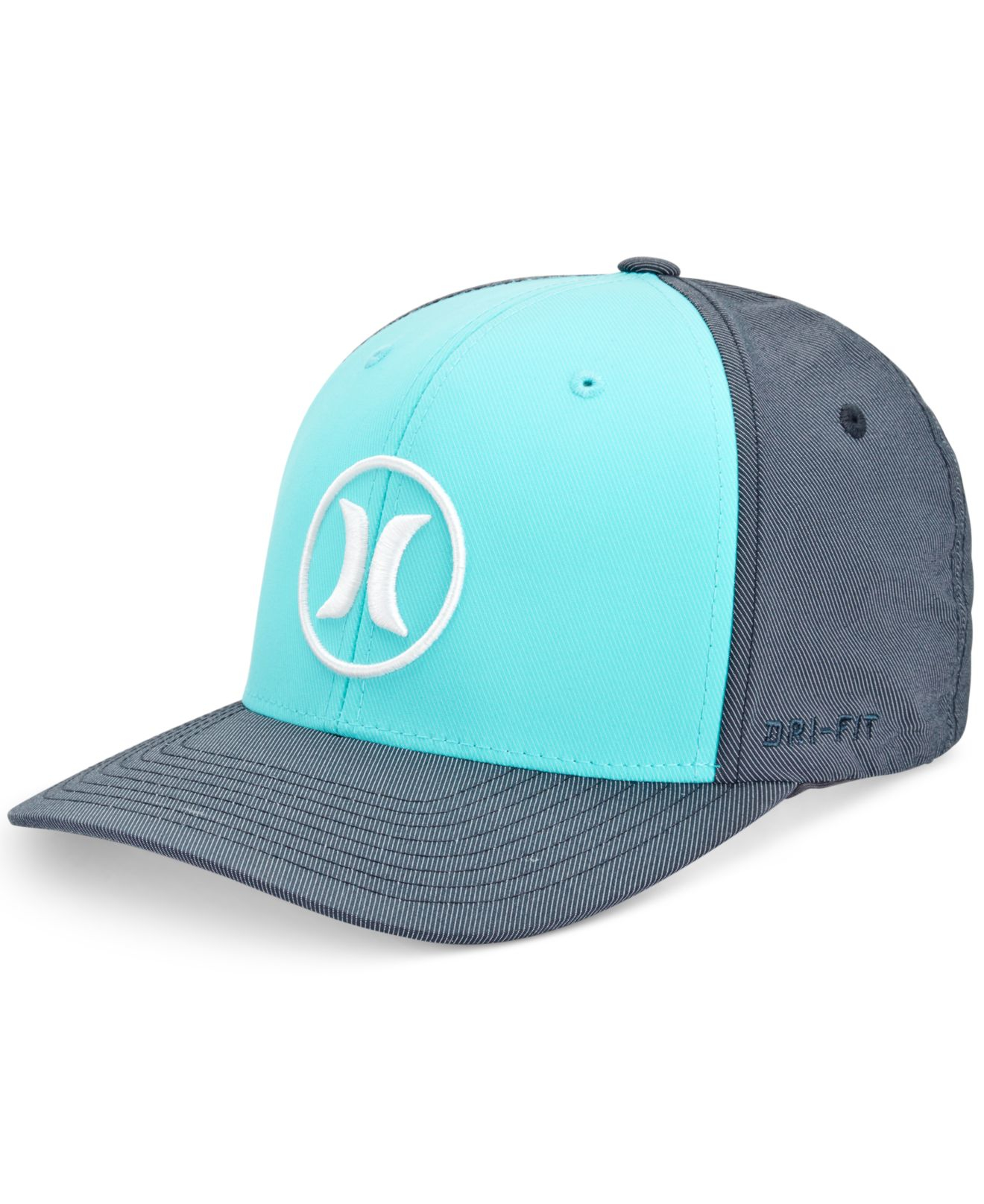 Hurley men s dri fit bali embroidered logo hat in blue for