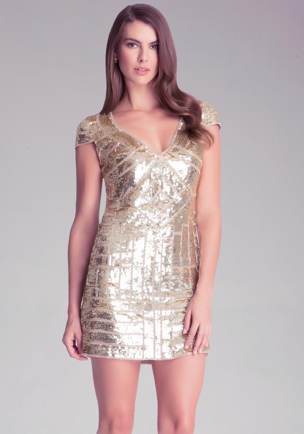 8a230ef201 Gallery. Women s Cowl Back Dresses Women s V Neck Sequin ...