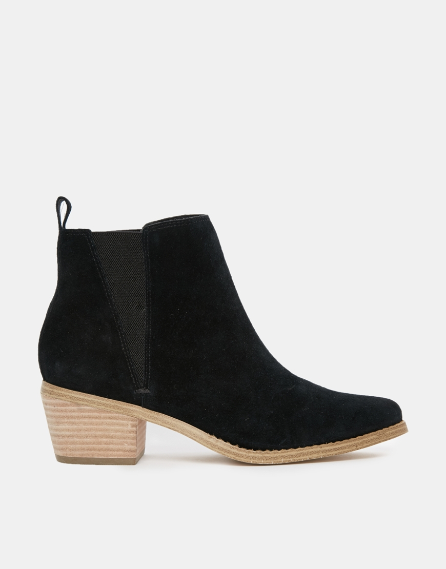 5628a5ce4606 Lyst - ASOS Risked It Suede Chelsea Boot in Black