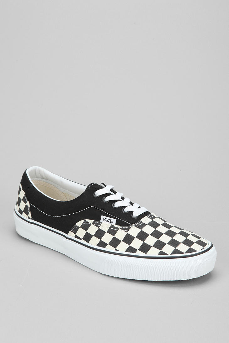 c01db0df5019 Lyst - Vans Era Checkerboard Mens Sneaker in Black for Men