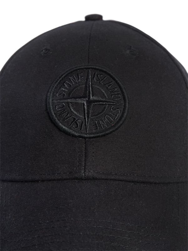 Lyst Stone Island Logo Embroidered Baseball Hat In Black