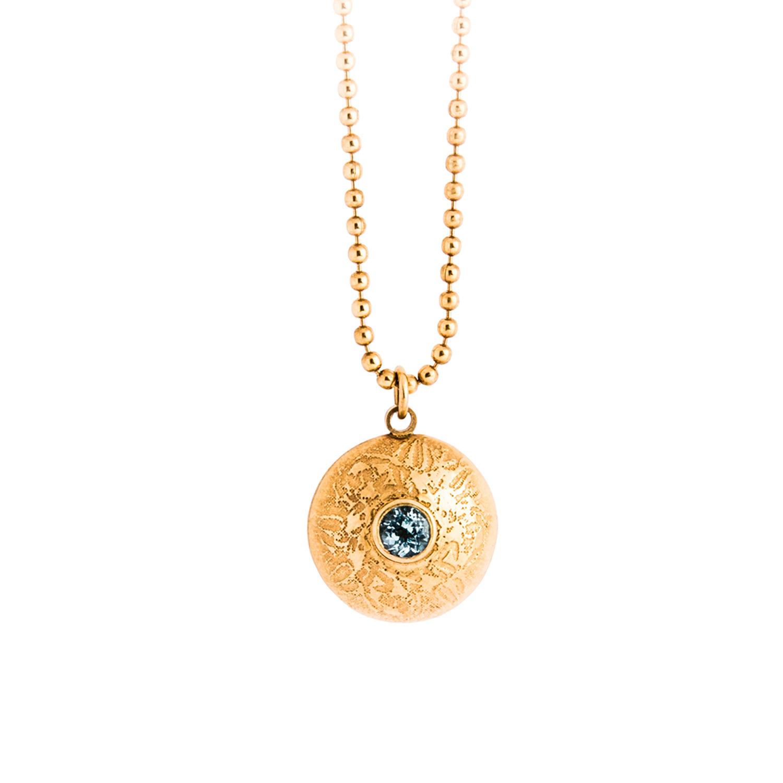 Becky Dockree Silver Double Gem Dome Necklace ShBG7uI